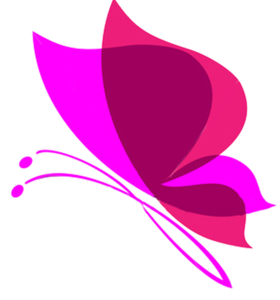 Pink Butterfly Transparent Background PNG Clip art