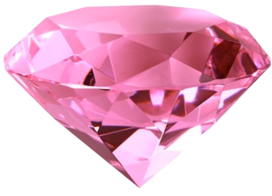 Pink Diamond Heart PNG File PNG image