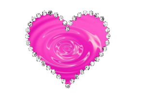 Pink Diamond Heart Transparent Background PNG Clip art