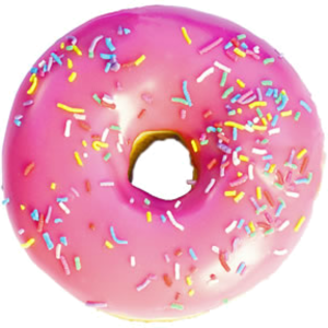 Pink Donut PNG Image PNG icon