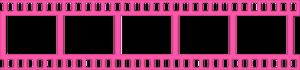 Pink Filmstrip Transparent Background PNG Clip art