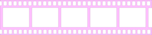 Pink Filmstrip Transparent PNG PNG clipart