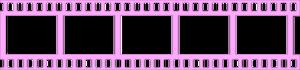 Pink Filmstrip Transparent PNG PNG Clip art