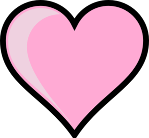 Pink Heart Transparent Background PNG icon