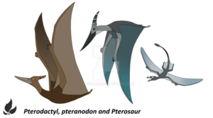 Pterosaurs Background PNG PNG Clip art