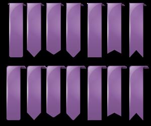 Purple Banner Transparent Background PNG Clip art