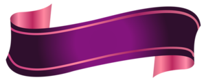 Purple Banner Transparent PNG PNG Clip art