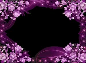 Purple Border Frame PNG HD PNG Clip art