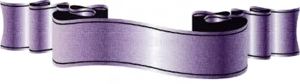 Purple Ribbon Transparent PNG PNG Clip art