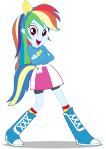 Rainbow Dash Equestria Girls PNG Image PNG clipart