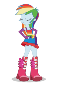 Rainbow Dash Equestria Girls Transparent PNG PNG Clip art
