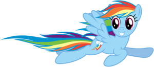 Rainbow Dash Flying PNG File PNG Clip art