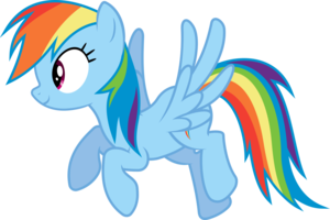 Rainbow Dash Flying PNG Image PNG Clip art