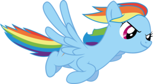 Rainbow Dash Flying PNG Transparent Image PNG Clip art