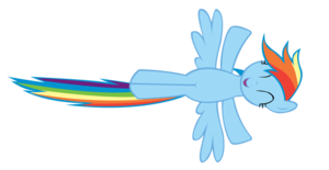 Rainbow Dash Flying Transparent Background PNG Clip art