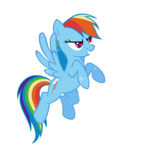 Rainbow Dash Vector Standing PNG Clipart PNG Clip art