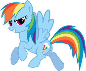 Rainbow Dash Vector Standing PNG File PNG Clip art