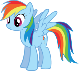 Rainbow Dash Vector Standing PNG Image PNG Clip art