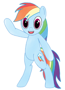 Rainbow Dash Vector Standing Transparent PNG PNG Clip art