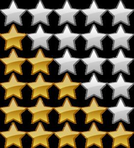 Rating Star Transparent Background PNG Clip art