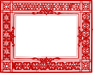 Red Border Frame PNG Transparent Picture PNG Clip art