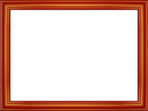 Red Border Frame Transparent Background PNG icon