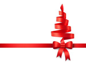 Red Christmas Ribbon Background PNG PNG Clip art