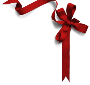 Red Christmas Ribbon PNG File PNG Clip art
