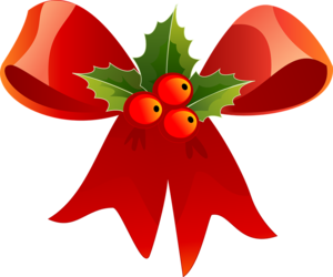 Red Christmas Ribbon PNG Free Download PNG Clip art