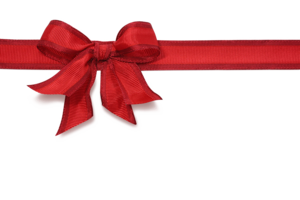 Red Christmas Ribbon PNG HD PNG Clip art