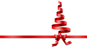 Red Christmas Ribbon PNG Transparent Picture PNG Clip art