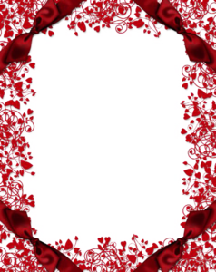 Red Flower Frame PNG Clipart PNG Clip art