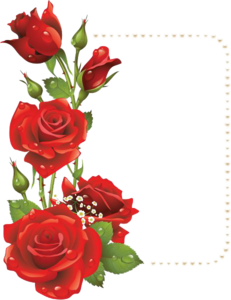 Red Flower Frame PNG File PNG Clip art