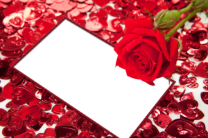 Red Flower Frame PNG HD PNG Clip art