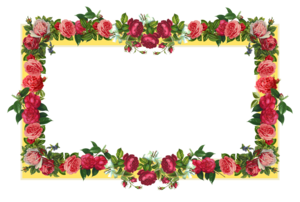Red Flower Frame PNG Photos PNG Clip art