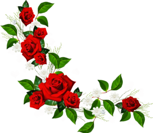 Red Flower Frame PNG Pic PNG Clip art