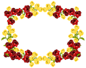 Red Flower Frame PNG Picture PNG Clip art