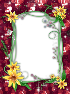 Red Flower Frame PNG Transparent Image Clip art