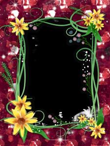 Red Flower Frame PNG Transparent Image PNG Clip art