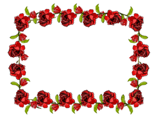 Red Flower Frame PNG Transparent Picture PNG clipart