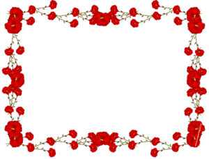 Red Flower Frame PNG Transparent PNG Clip art