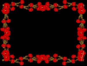 Red Flower Frame PNG Transparent PNG Clip art
