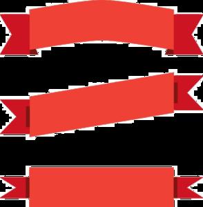 Red Ribbon Banner PNG Transparent PNG Clip art
