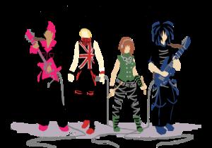 Rock Band Transparent Background PNG Clip art