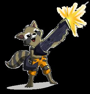 Rocket Raccoon PNG Pic PNG Clip art
