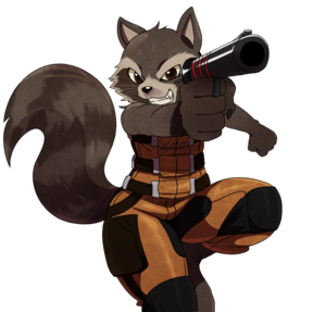 Rocket Raccoon Transparent Background PNG Clip art