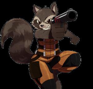 Rocket Raccoon Transparent Background PNG Clip art
