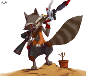 Rocket Raccoon Transparent PNG PNG Clip art
