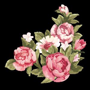 Romantic Pink Flower Border PNG Clipart PNG Clip art