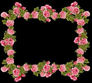 Romantic Pink Flower Border PNG Image PNG Clip art